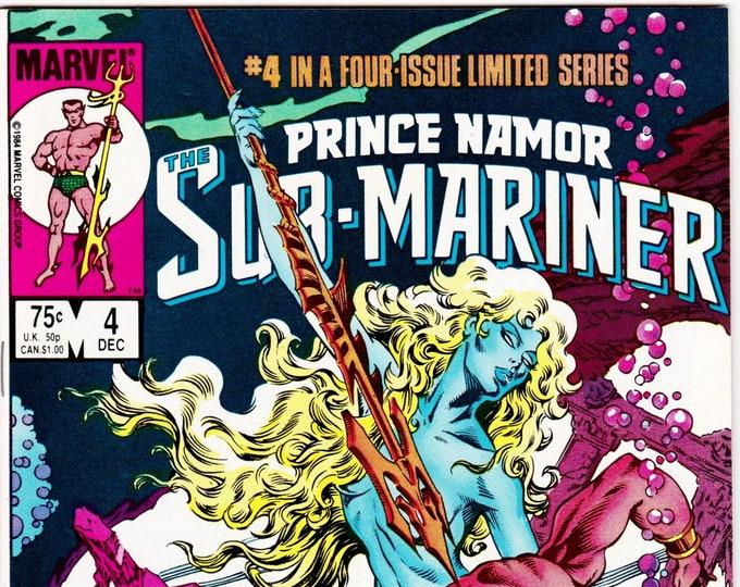 Prince Namor the Sub-Mariner #4 (1984 Marvel) December 1984   Marvel Comics  Grade NM