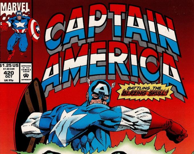 Captain America #420 (1st Series 1968) October 1993    Marvel Comics     Grade VF