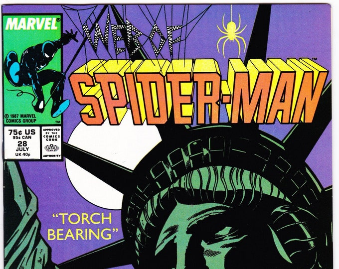 Web of Spider-Man #28 (1st Series 1985) July 1987  Marvel Comics  Grade NM
