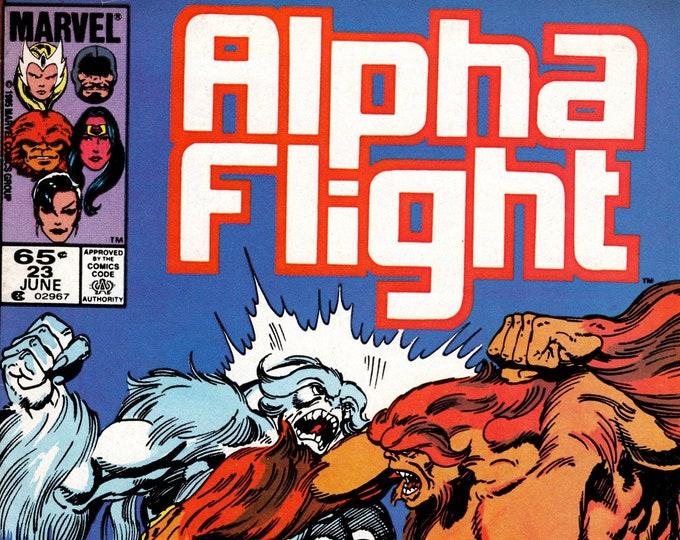 Alpha Flight #23 (1st Series 1983) June 1985 Marvel Comics  Grade Fine