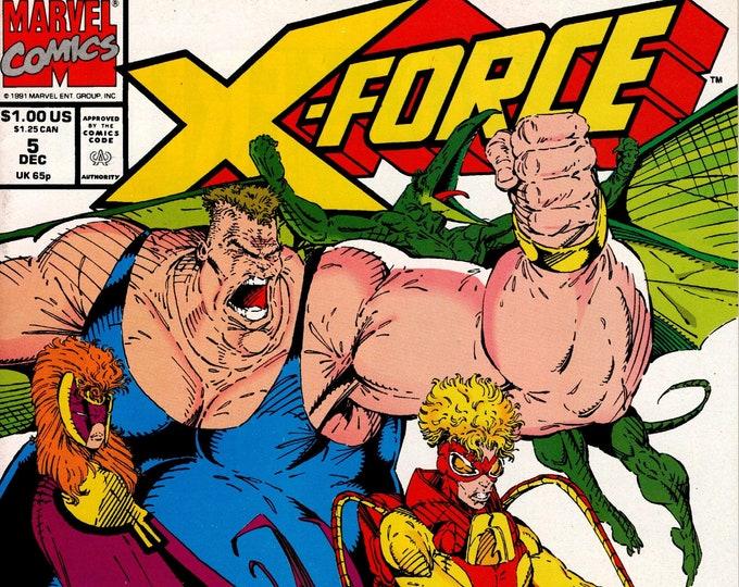 X-Force #5 (1991 Series) January 1992    Marvel Comics   Grade NM