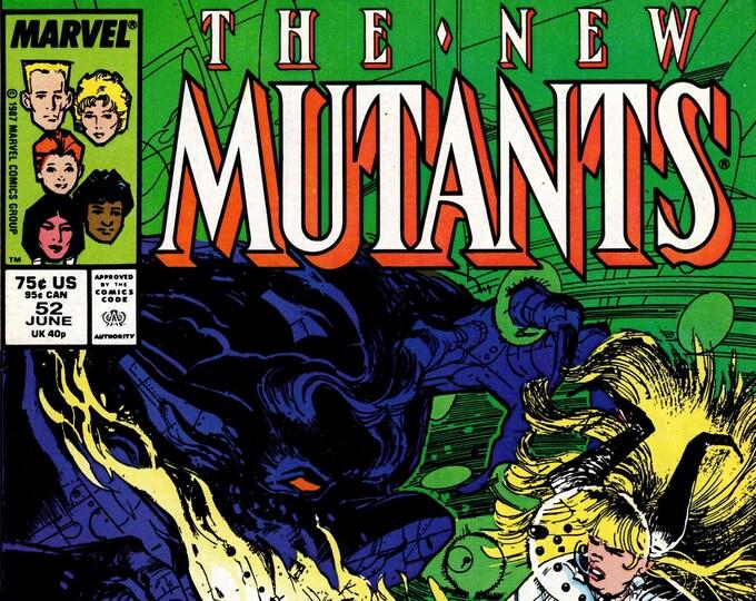 New Mutants #52 (1983 1st Series) June 1987  Marvel Comics Grade VF
