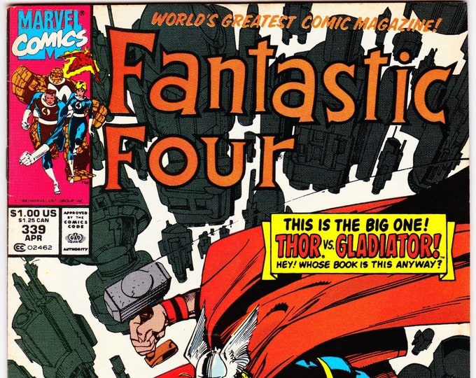 Fantastic Four #339 (1st Series 1961) April 1990  Marvel Comics  Grade Fine