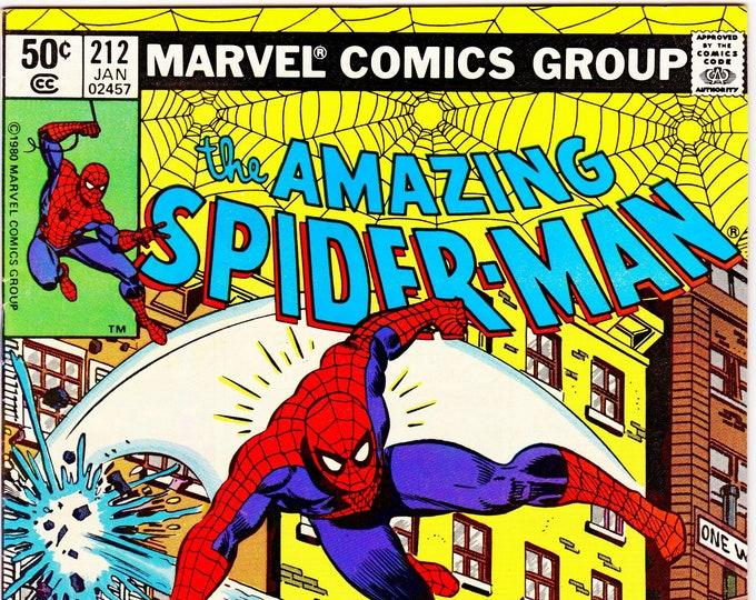 Amazing Spider-Man #212 (1st Series 1963) January 1981  Marvel Comics  Grade VF/NM