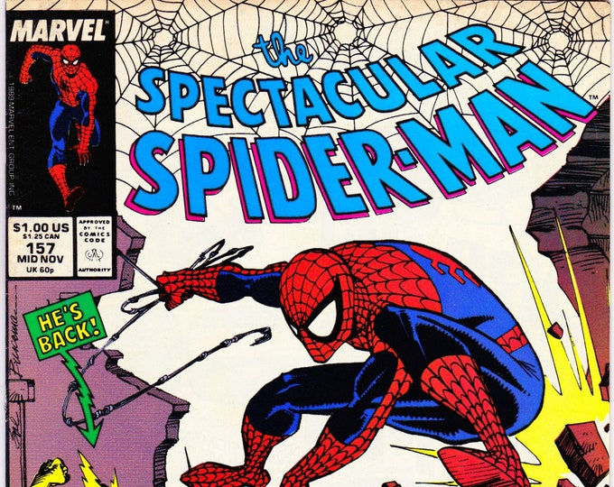 Spectacular Spider Man #157  November 1989   Marvel Comics  Grade VF