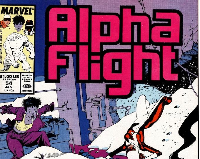 Alpha Flight #54 (1st Series 1983) January 1988 Marvel Comics  Grade NM