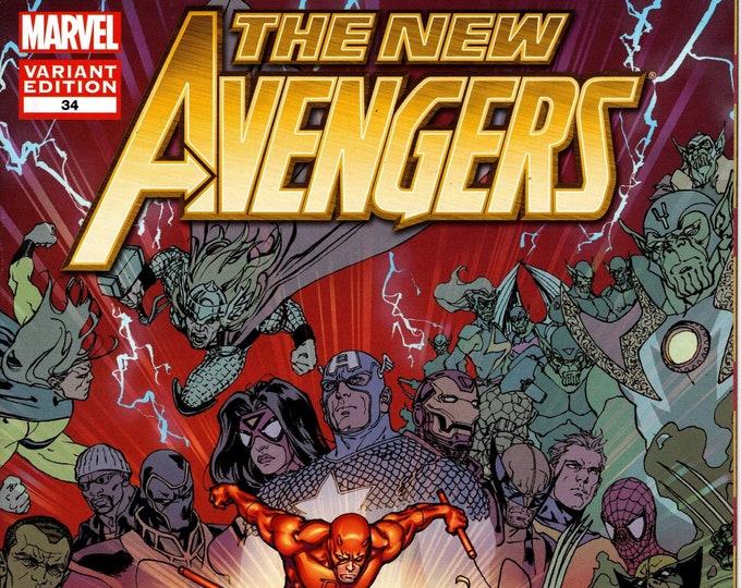 The New Avengers #34 Variant Cover January Issue  Marvel Comics  Grade NM