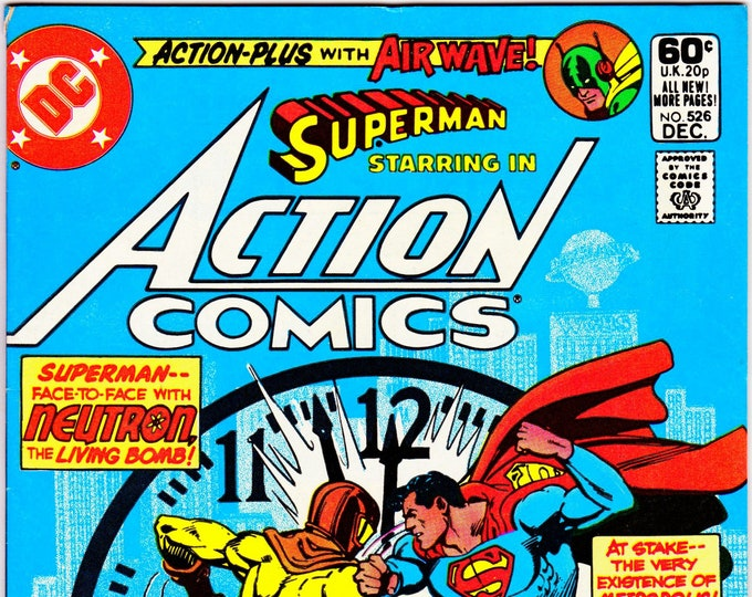 Action Comics #526 (1938 Series) December 1981 DC Comics Grade VF+