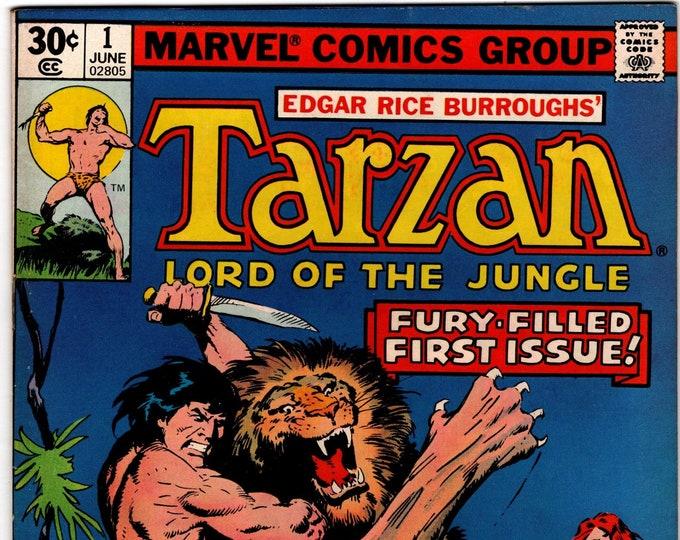 Tarzan #1 (1977 Series) June 1977   Marvel Comics   Grade Fine+