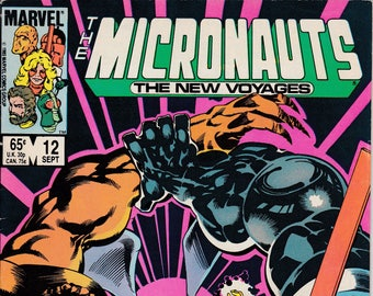 Micronauts The New Voyages #12 (1984 Series)  September 1985  Marvel Comics  Grade Fine