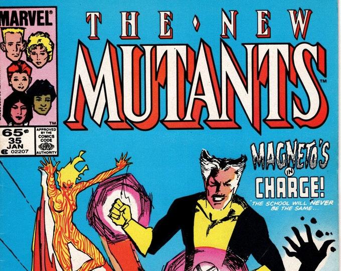 New Mutants #35 (1983 1st Series) January 1986  Marvel Comics Grade Fine