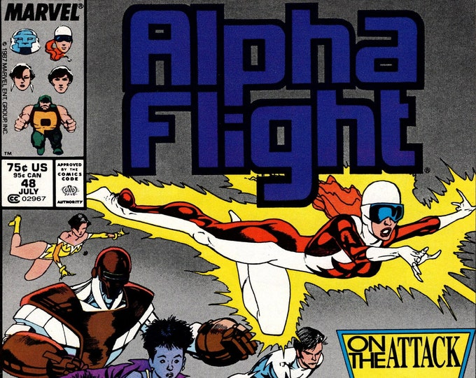 Alpha Flight #48 (1st Series 1983) July 1987 Marvel Comics  Grade NM