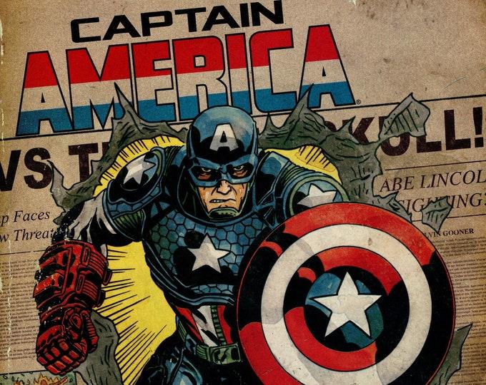 Captain America #1 (Phantom Variant Cover) January Issue  Marvel Comics  Grade NM