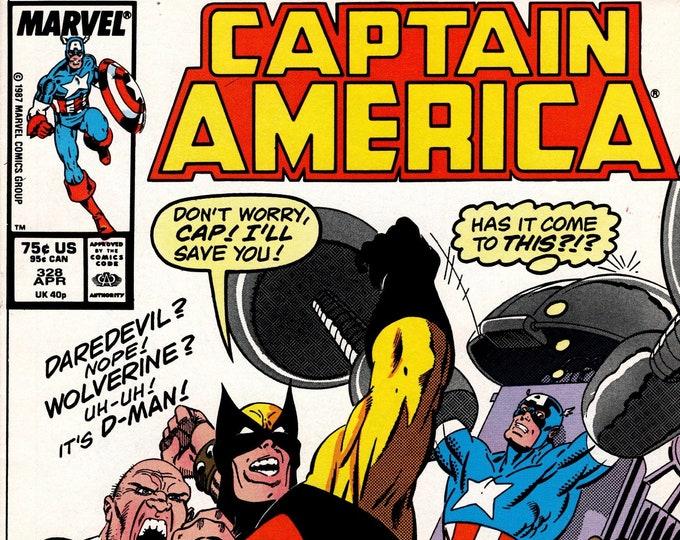 Captain America #328 (1968 1st Series) April 1987   Marvel Comics    Grade VF/NM