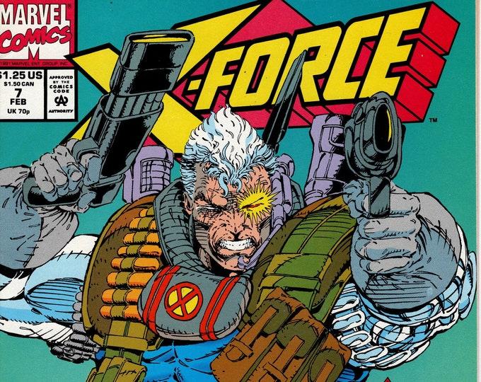 X-Force #7 (1991 Series) February 1992    Marvel Comics   Grade NM