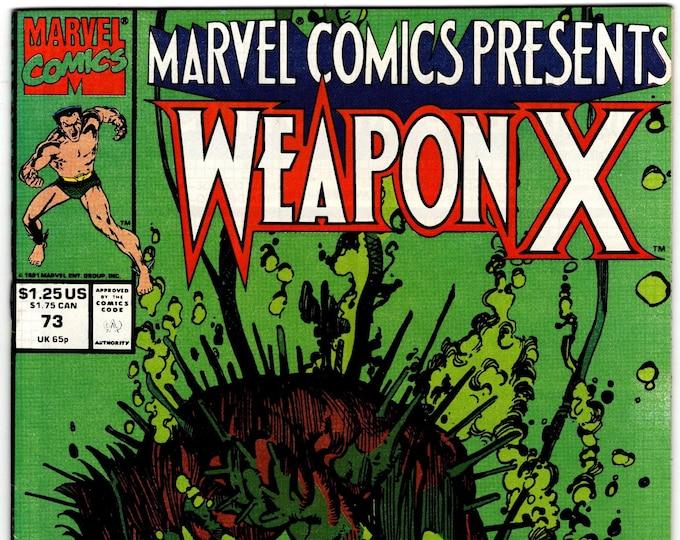 Marvel Comics Presents #73 (1988 Series) March 1991  Marvel Comics  Grade NM