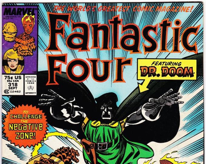 Fantastic Four #318  September 1988  Marvel Comics  Grade NM