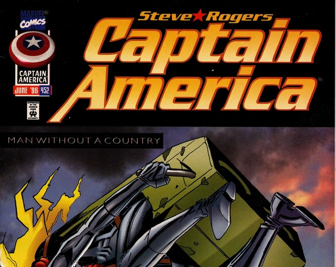 Captain America #452 (1st Series 1968) June 1996 Marvel Comics  Grade VF/NM