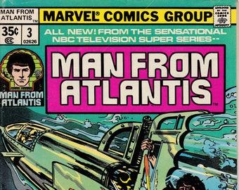 Man From Atlantis #3 April 1978 Issue - Marvel Comics - Grade Fine