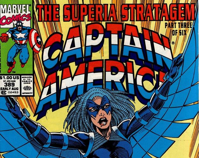 Captain America #389 (1968 1st Series) Agust 1991 Issue Marvel Comics Grade NM