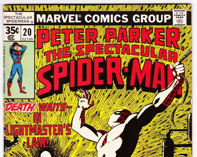 Spectacular Spider Man #20 (1st Series 1976) July 1978   Marvel Comics  Grade VF-