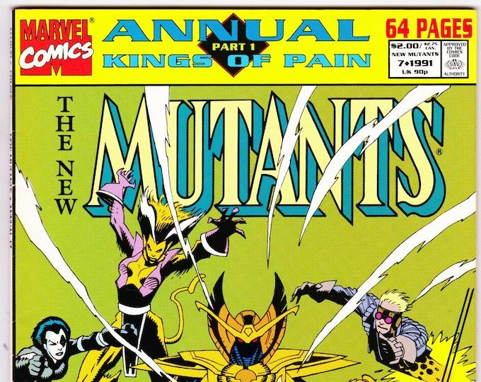 New Mutants Annual #7 (1st Series 1983) 1991     Marvel Comics    Grade VF