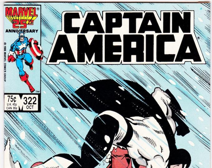 Captain America #322 (1st Series 1968) October 1986   Marvel Comics   Grade VF