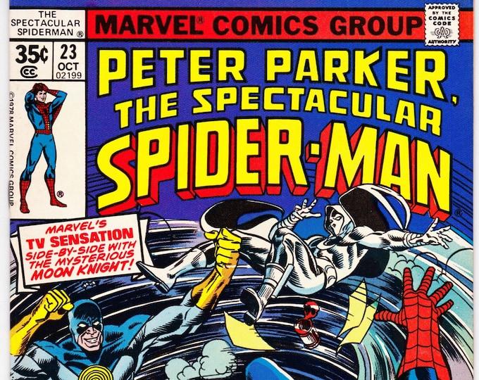Spectacular Spider Man #23 (1st Series 1976) October 1978   Marvel Comics  Grade VF