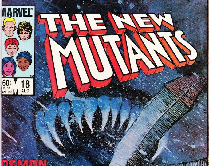New Mutants #18 (1983 1st Series) August  1984  Marvel Comics Grade VF