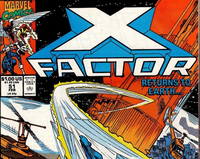 X-Factor #51   February 1990    Marvel Comics   Grade VF