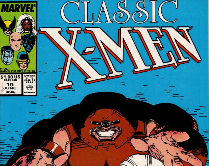 Classic X-Men #10 (1986-1995 Series) June 1987  Marvel Comics  Grade NM