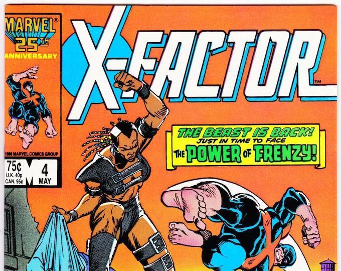 X-Factor #4   May 1986     Marvel Comics   Grade NM
