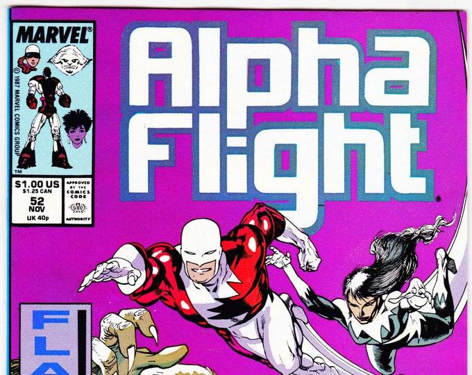 Alpha Flight #52 (1st Series 1983) November 1987 Marvel Comics  Grade NM