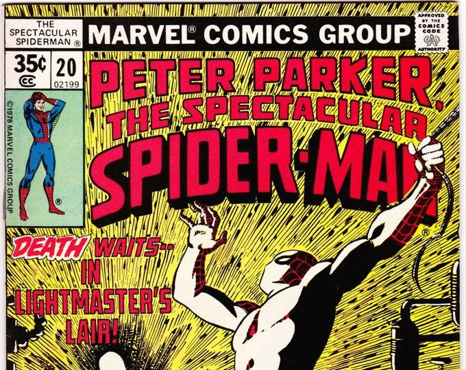 Spectacular Spider Man #20 (1st Series 1976) July 1978   Marvel Comics  Grade VF