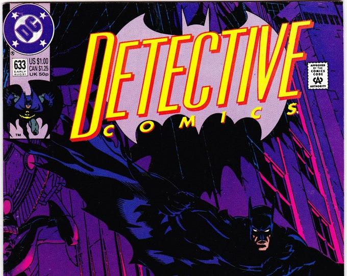 Detective Comics #633 (1st Series 1937) August 1991   DC Comics   Grade VF/NM