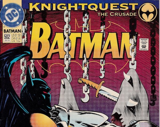 Batman #502 (1940 Series) November 1993  DC Comics  Grade VF