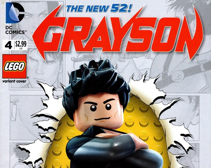 Grayson #4 Lego Variant Cover January Issue DC Comics Grade NM