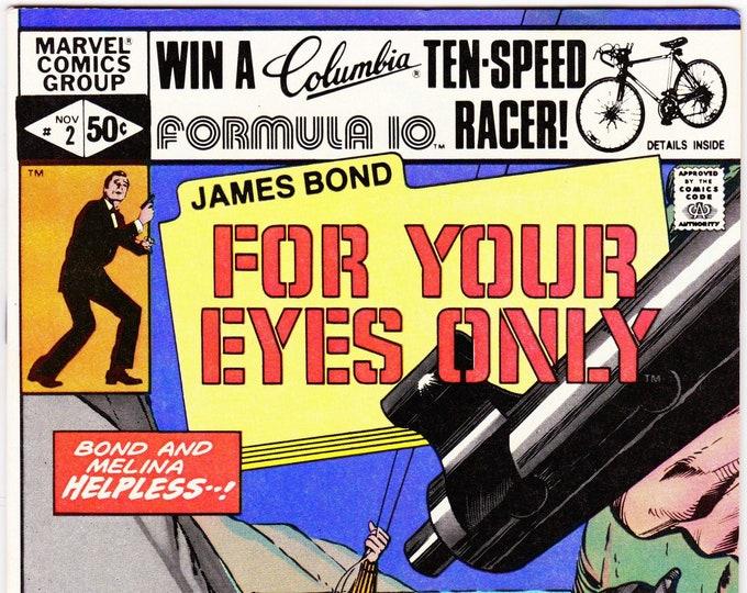 James Bond For Your Eyes Only #2 (1981 Marvel) October 1981   Marvel Comics   Grade NM