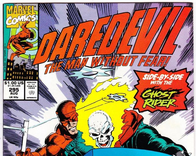 Daredevil #295 (1st Series 1964) August 1991  Marvel Comics  Grade NM