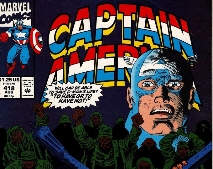 Captain America #418 (1st Series 1968) August 1993 Marvel Comics Grade F/VF
