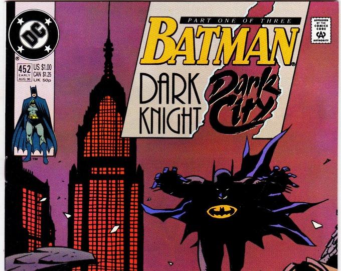 Batman #452   August  1990    DC Comics   Grade NM