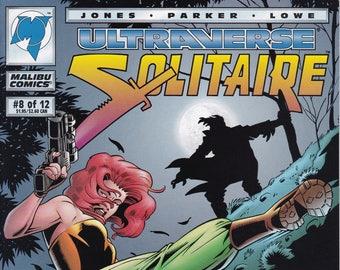 Solitaire #8 - September 1994 -  Malibu Comics - Grade VF