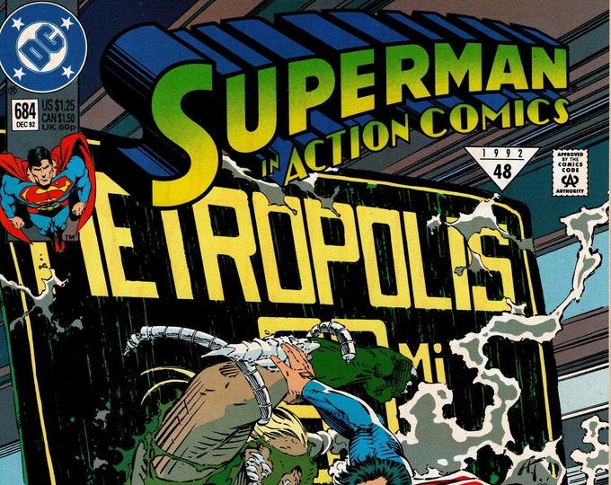 Action Comics #684  December 1992  DC Comics  Grade NM
