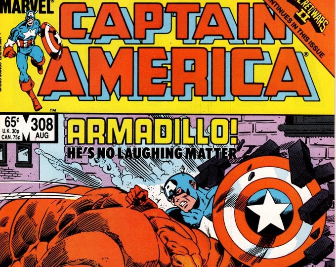 Captain America #308 (1968 1st Series) August 1985   Marvel Comics    Grade NM