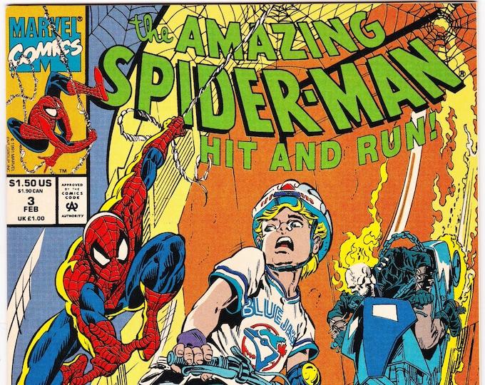 Amazing Spider-Man Hit and Run #3 U.S. Edition 1990  Marvel Comics  Grade VF+