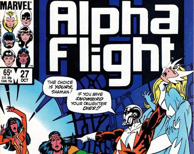 Alpha Flight #27 (1st Series 1983) October 1985 Marvel Comics  Grade VF