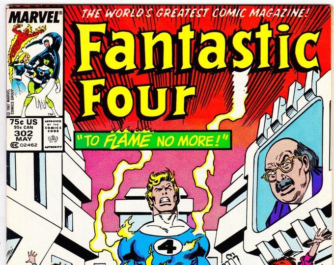Fantastic Four #302  March 1987  Marvel Comics  Grade VF