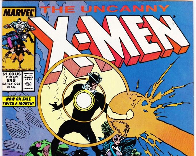 X-Men #249 (1st Series 1963) October 1989   Marvel Comics   Grade NM
