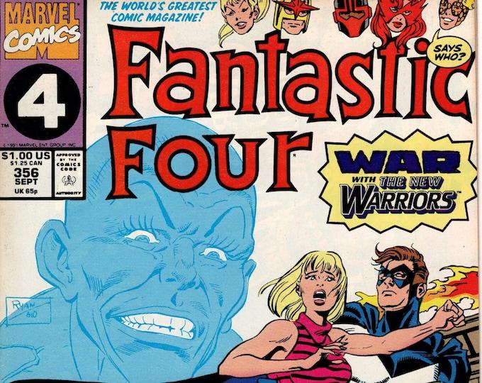 Fantastic Four #356 (1st Series 1961) September 1991    Marvel Comics   Grade VF