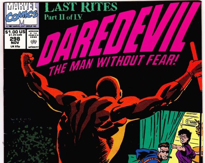 Daredevil #298  November 1991  Marvel Comics  Grade NM